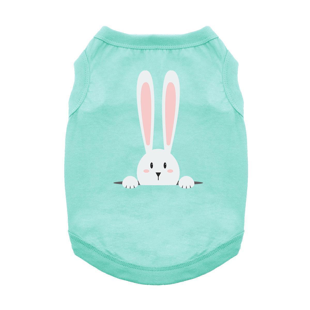 Peek-a-Boo Bunny Dog Shirt - Aqua