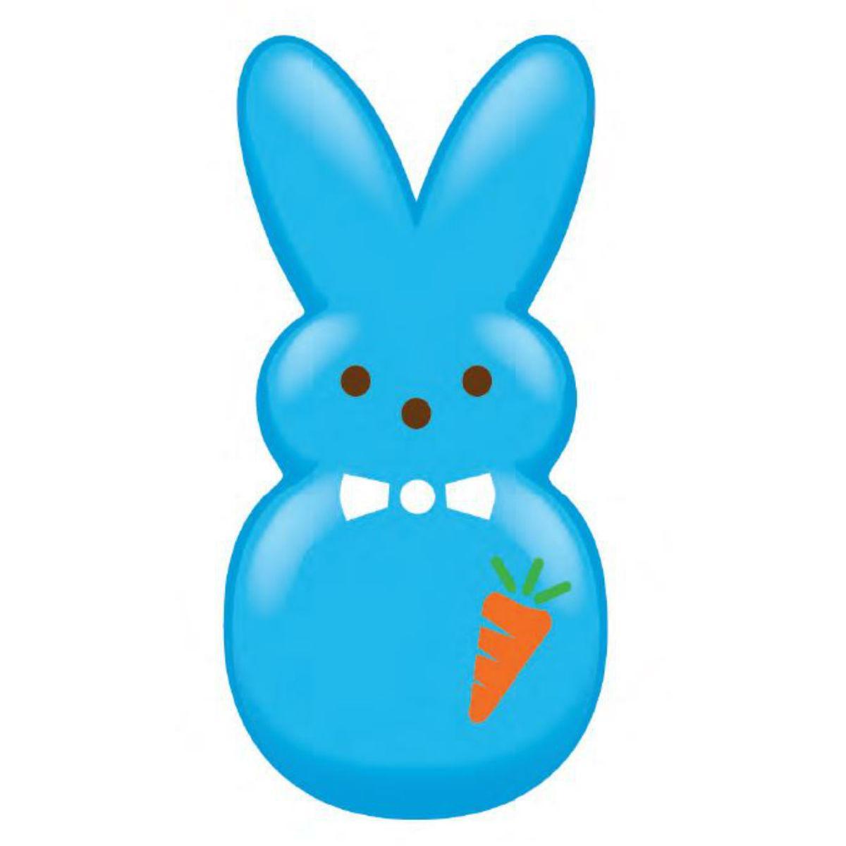 Peeps Dress-Up Bunny Vinyl Dog Toy - Blue Carrot