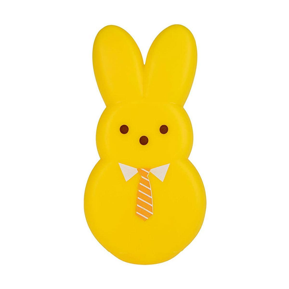 Peeps Dress-Up Bunny Vinyl Dog Toy - Yellow Mister