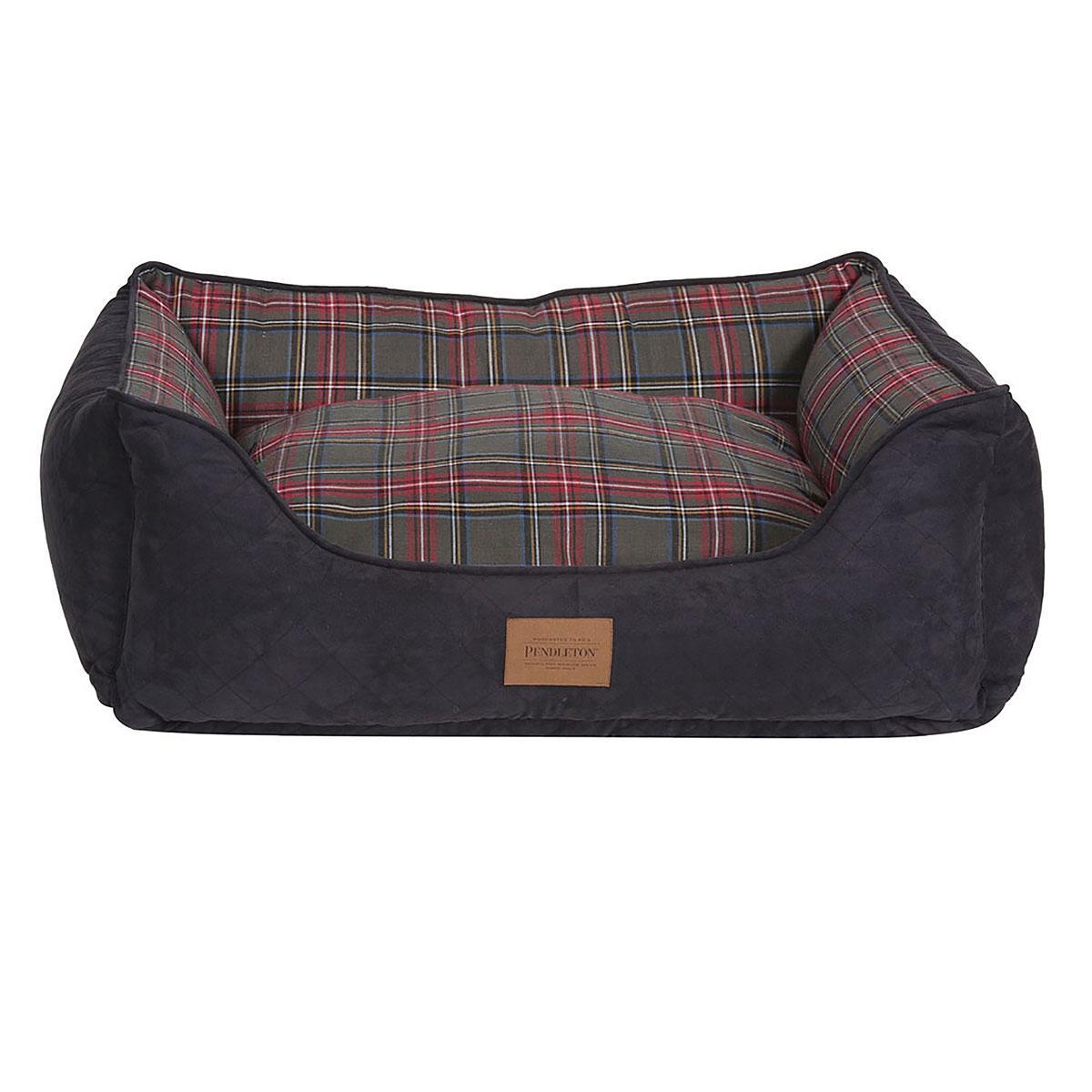 Pendleton® Pet Grey Stewart Tartan Kuddler Dog Bed