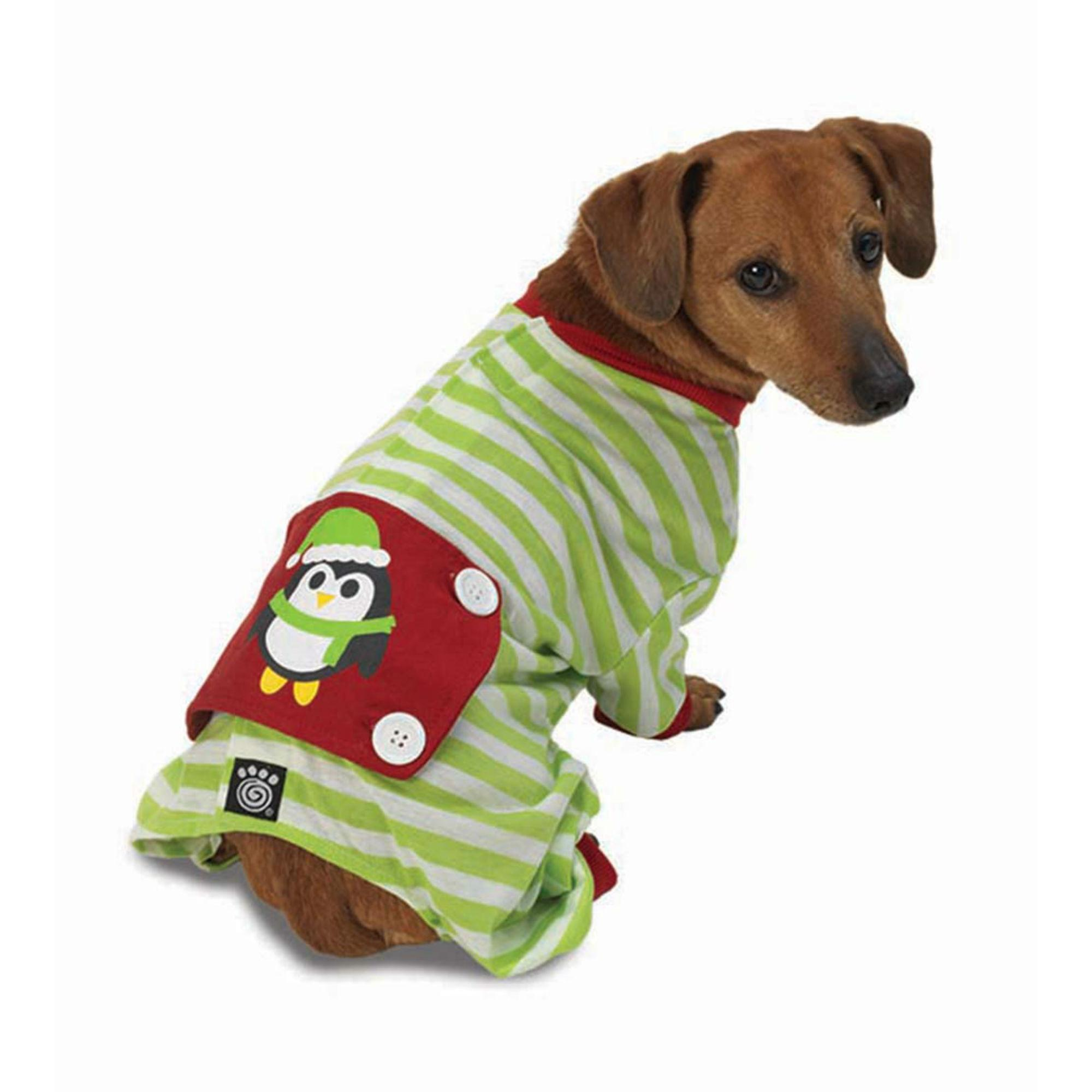 Penguin Dog Pajamas - Green/White with Same Day Shipping | BaxterBoo