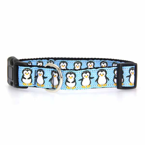 Penguins Nylon Ribbon Dog Collar