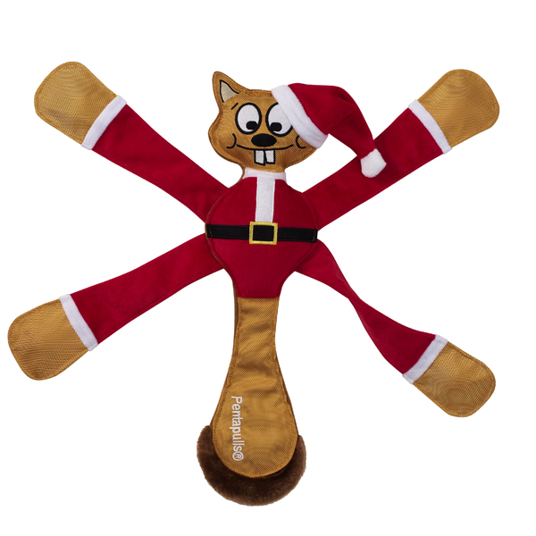 Pentapulls Dog Toy - Santa Squirrel