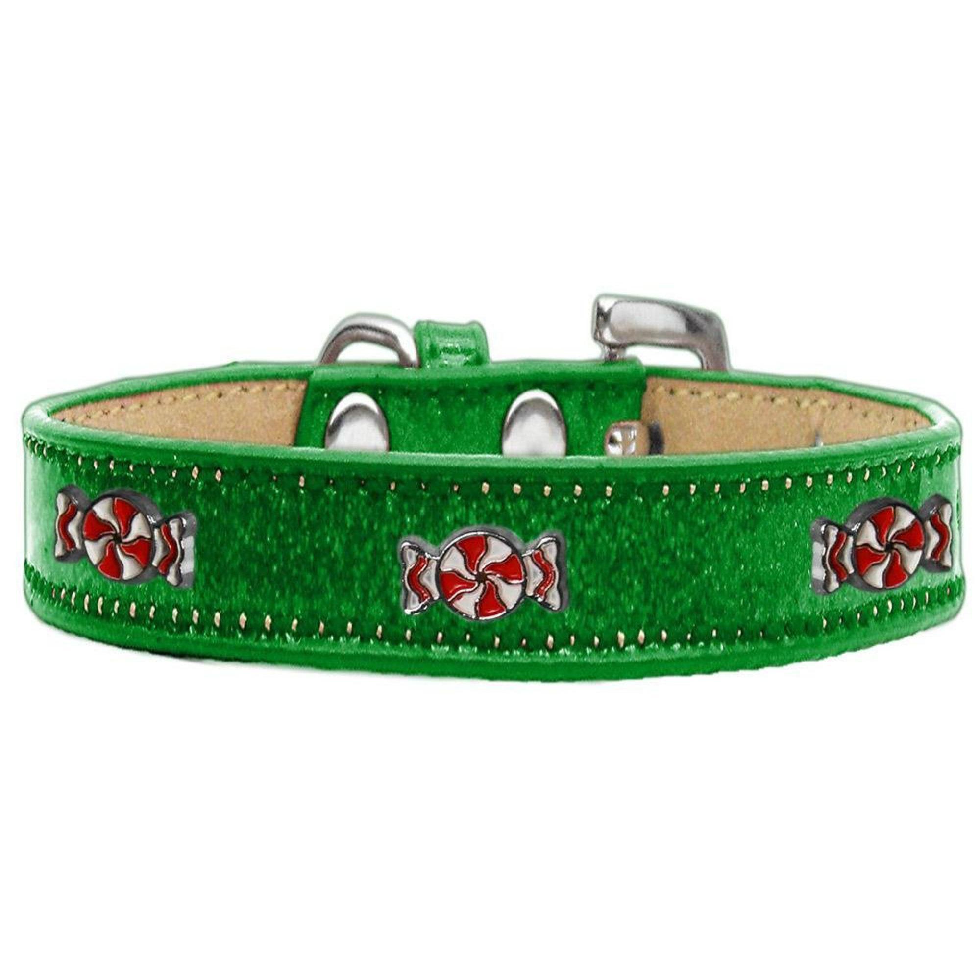 Peppermint Widget Dog Collar - Emerald Green