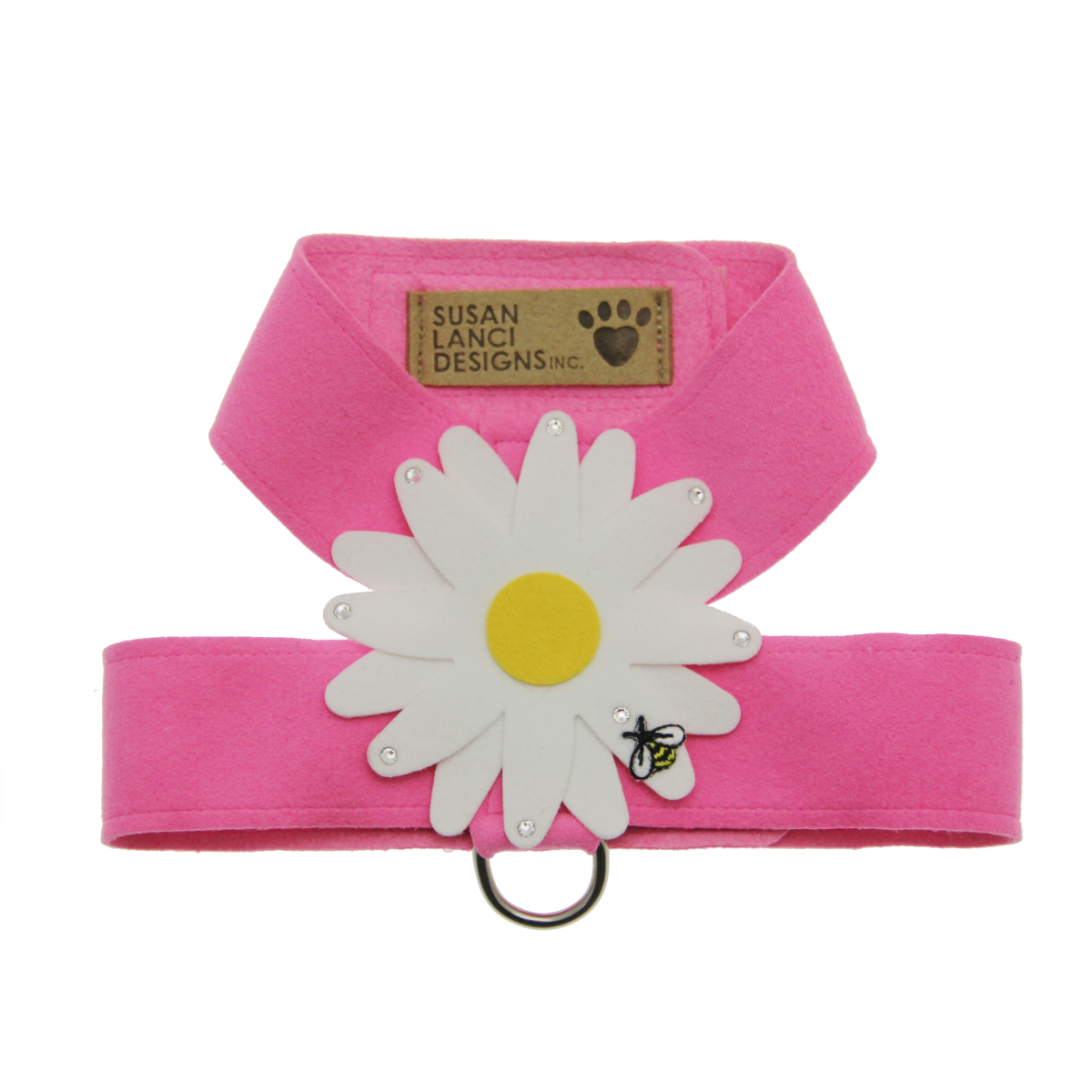 Perfect Pink Big Daisy Tinkie Dog Harness by Susan Lanci