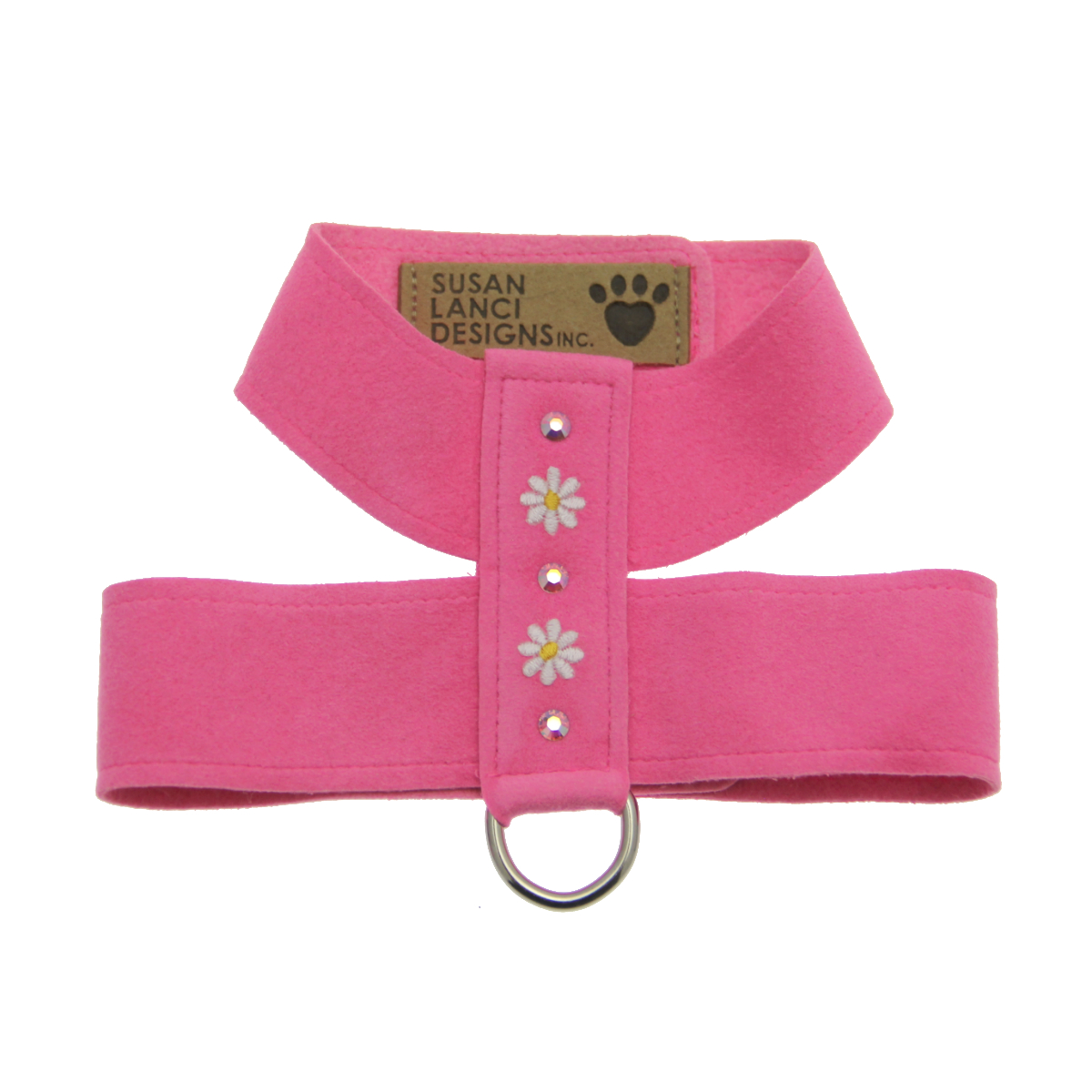 Perfect Pink Little Daisies Tinkie Dog Harness by Susan Lanci
