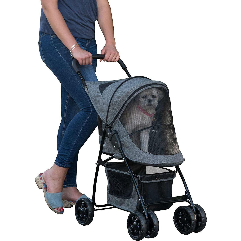 Pet Gear Happy Trails Dog Stroller - Dark Platinum