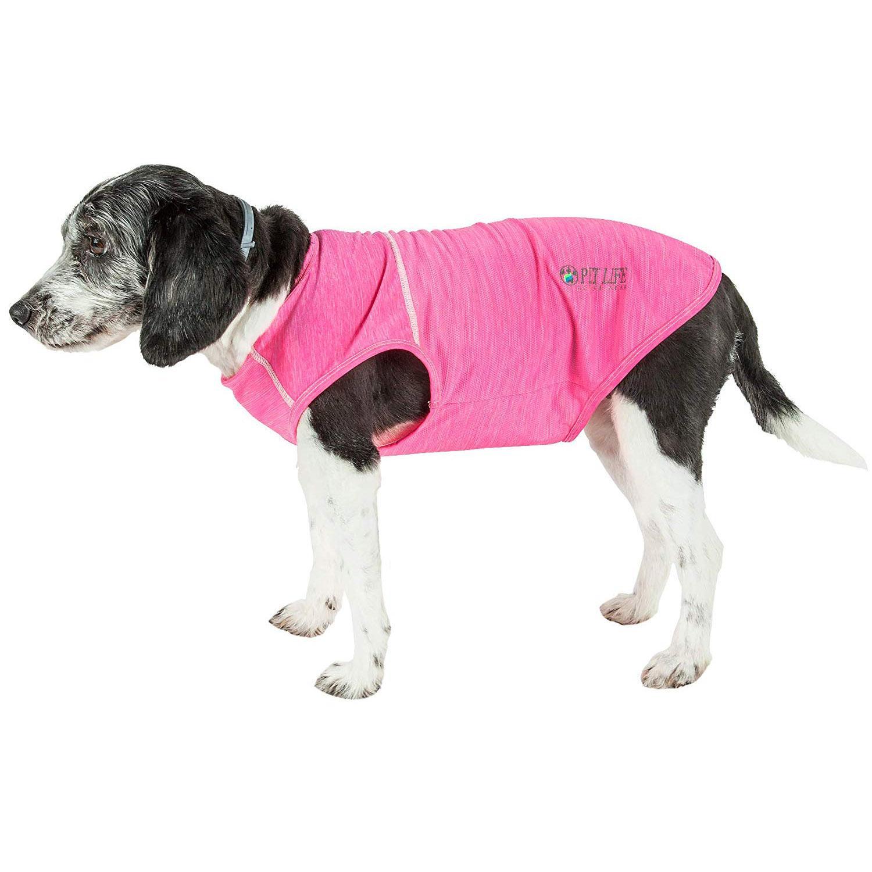 Pet Life ACTIVE 'Aero-Pawlse' Performance Dog Tank Top - Pink