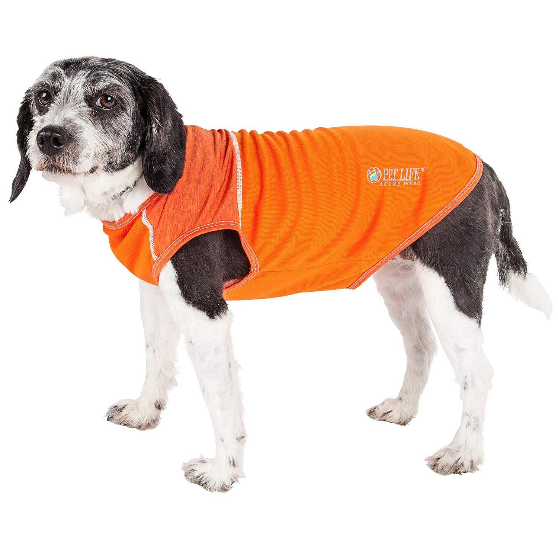 Pet Life ACTIVE 'Aero-Pawlse' Performance Dog Tank Top - Orange