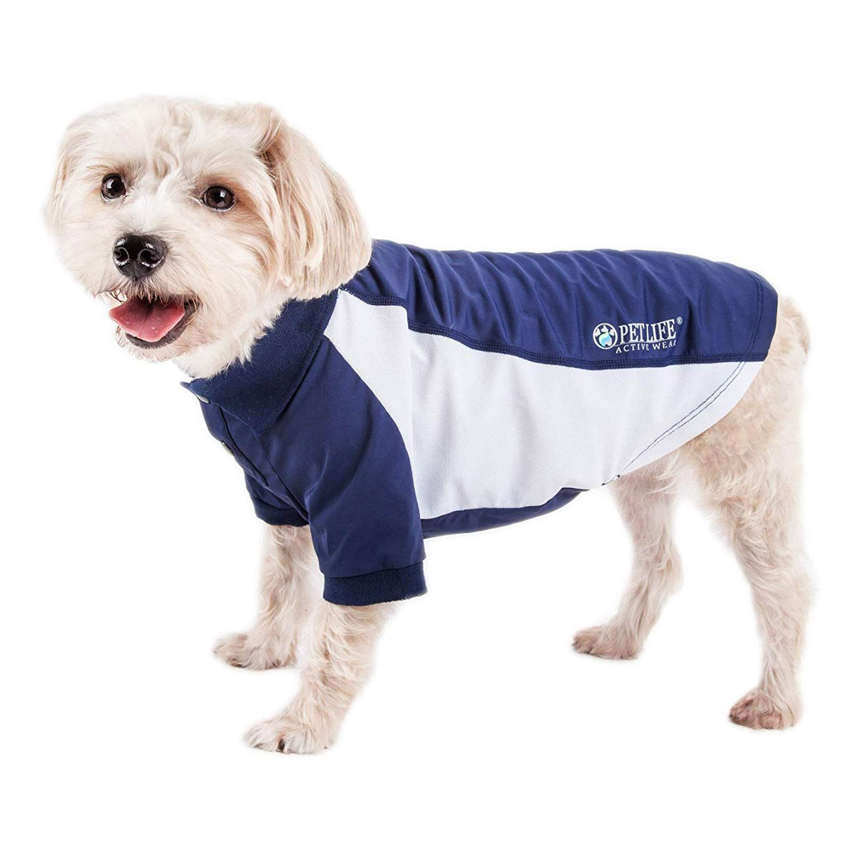 Pet Life ACTIVE 'Barko Pawlo' Performance Dog Polo - Navy and White