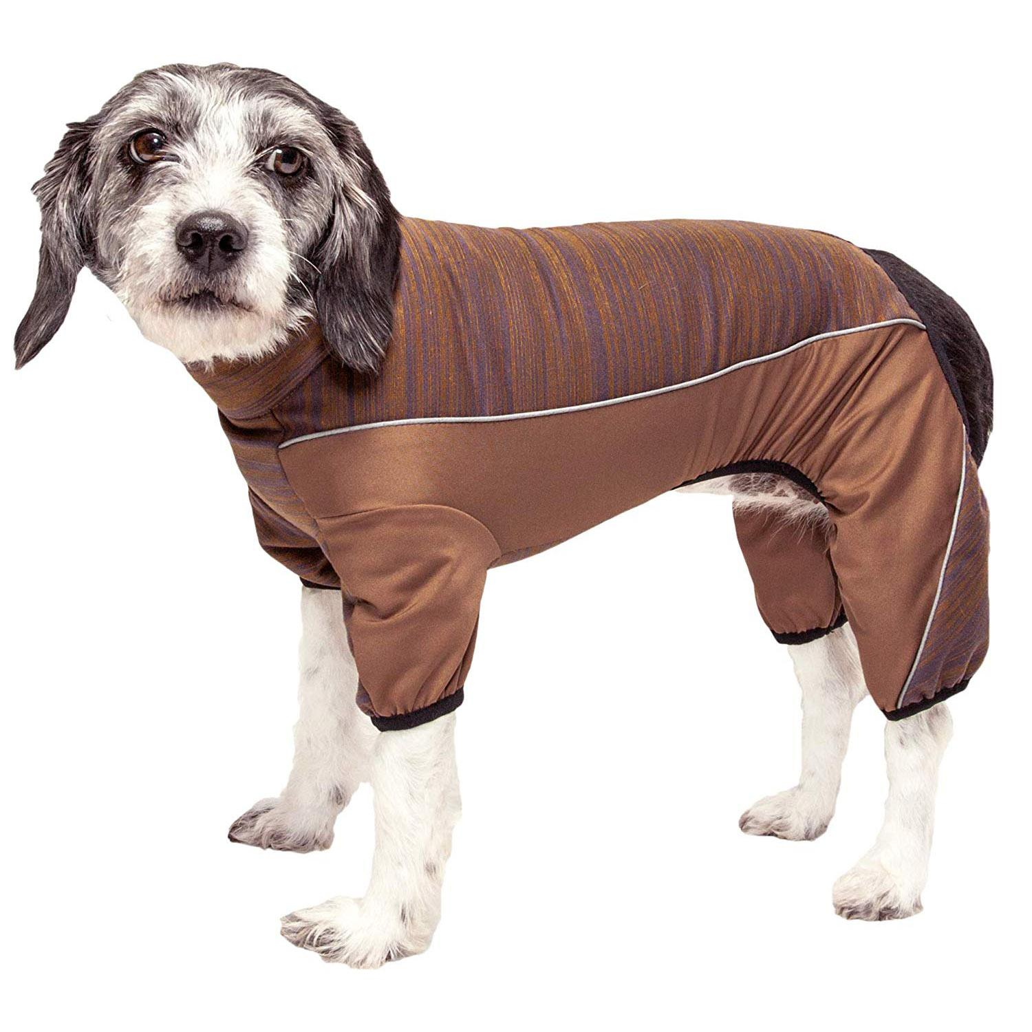 Pet Life ACTIVE 'Chase Pacer' Performance Full Body Dog Warm Up - Brown