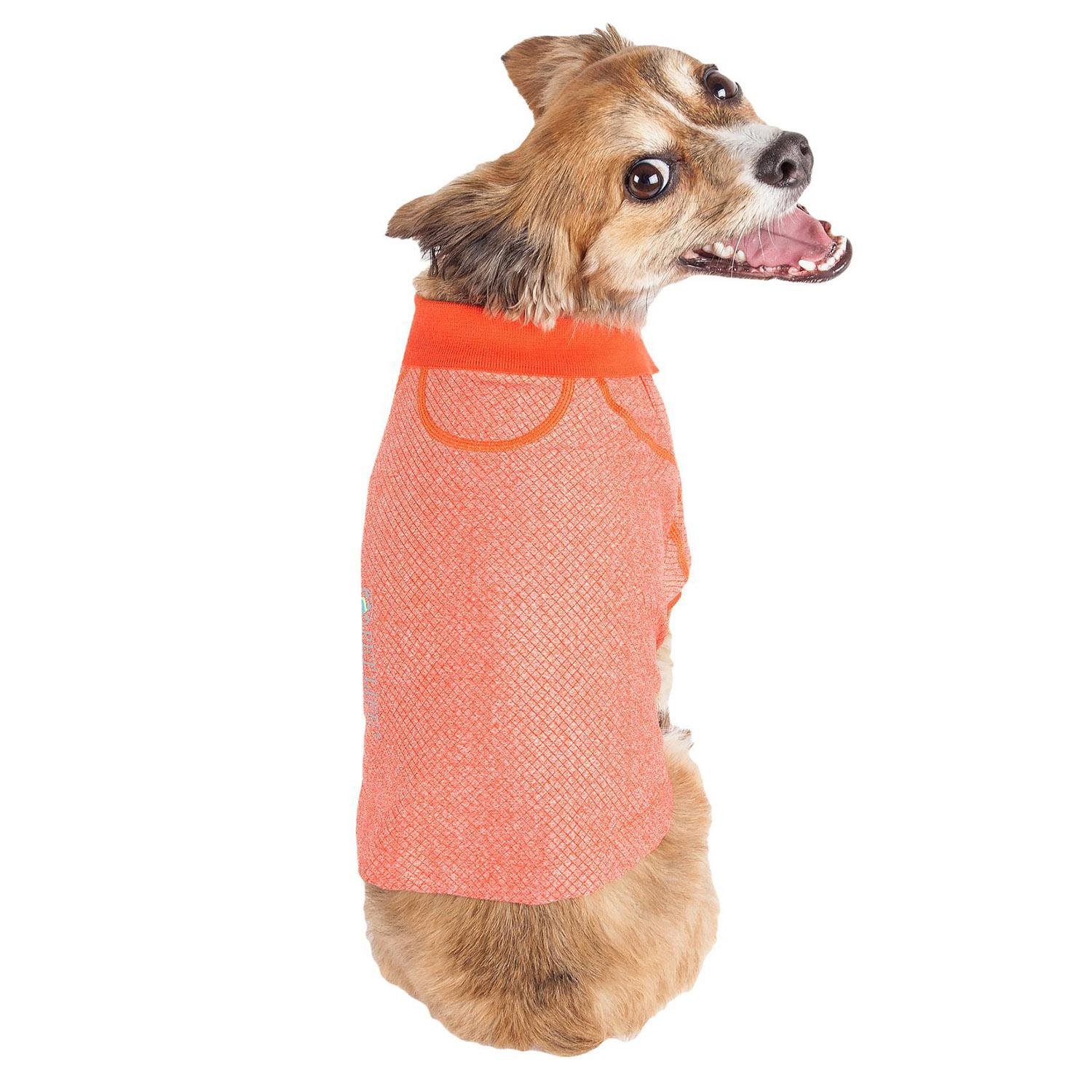 Pet Life ACTIVE 'Fur-Flexed' Performance Dog Polo - Orange