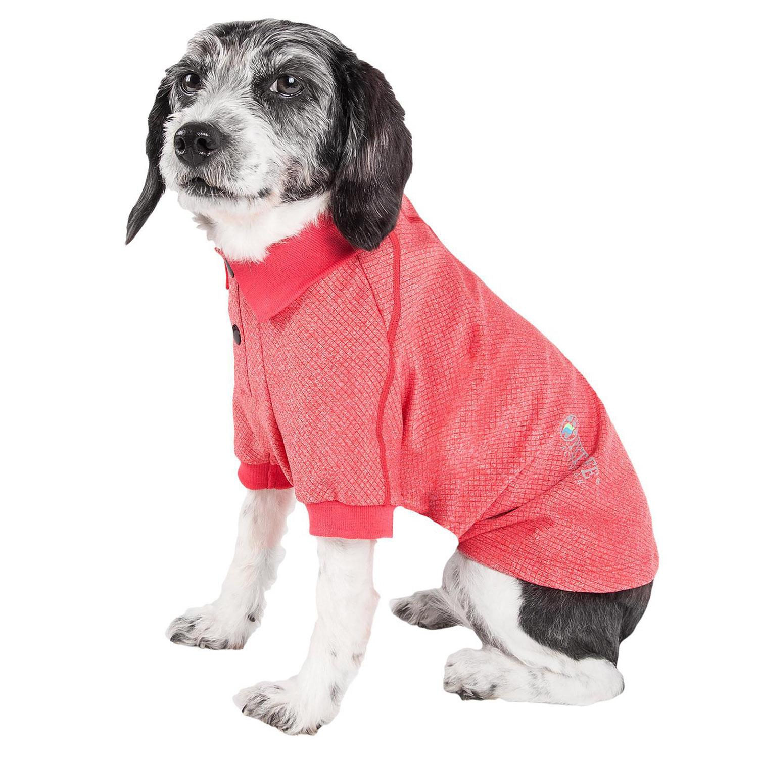 Pet Life ACTIVE 'Fur-Flexed' Performance Dog Polo - Red