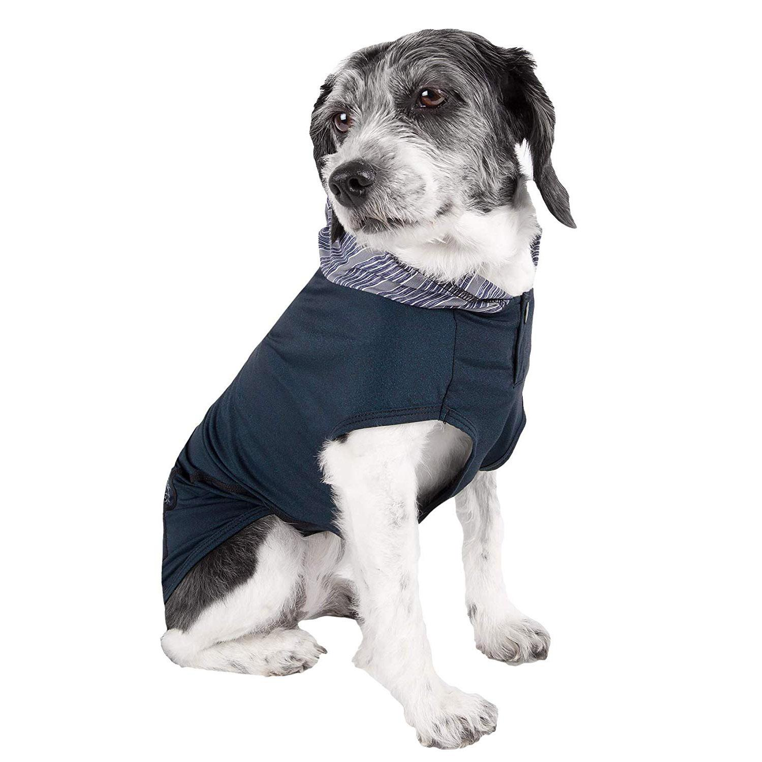 Pet Life ACTIVE 'Pull-Rover' Performance Sleeveless Dog Hoodie - Dark Teal
