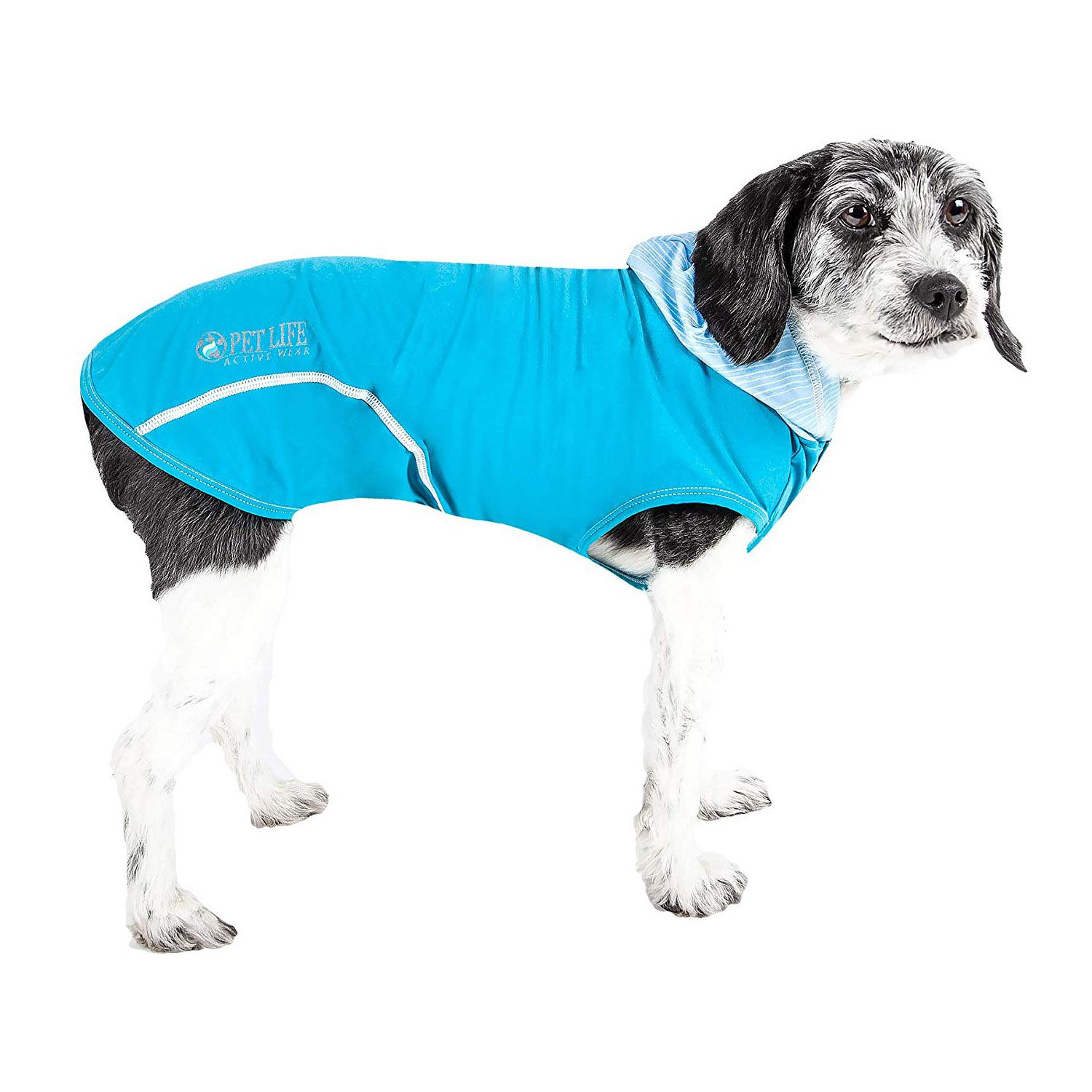 Pet Life ACTIVE 'Pull-Rover' Performance Sleeveless Dog Hoodie - Electric Blue