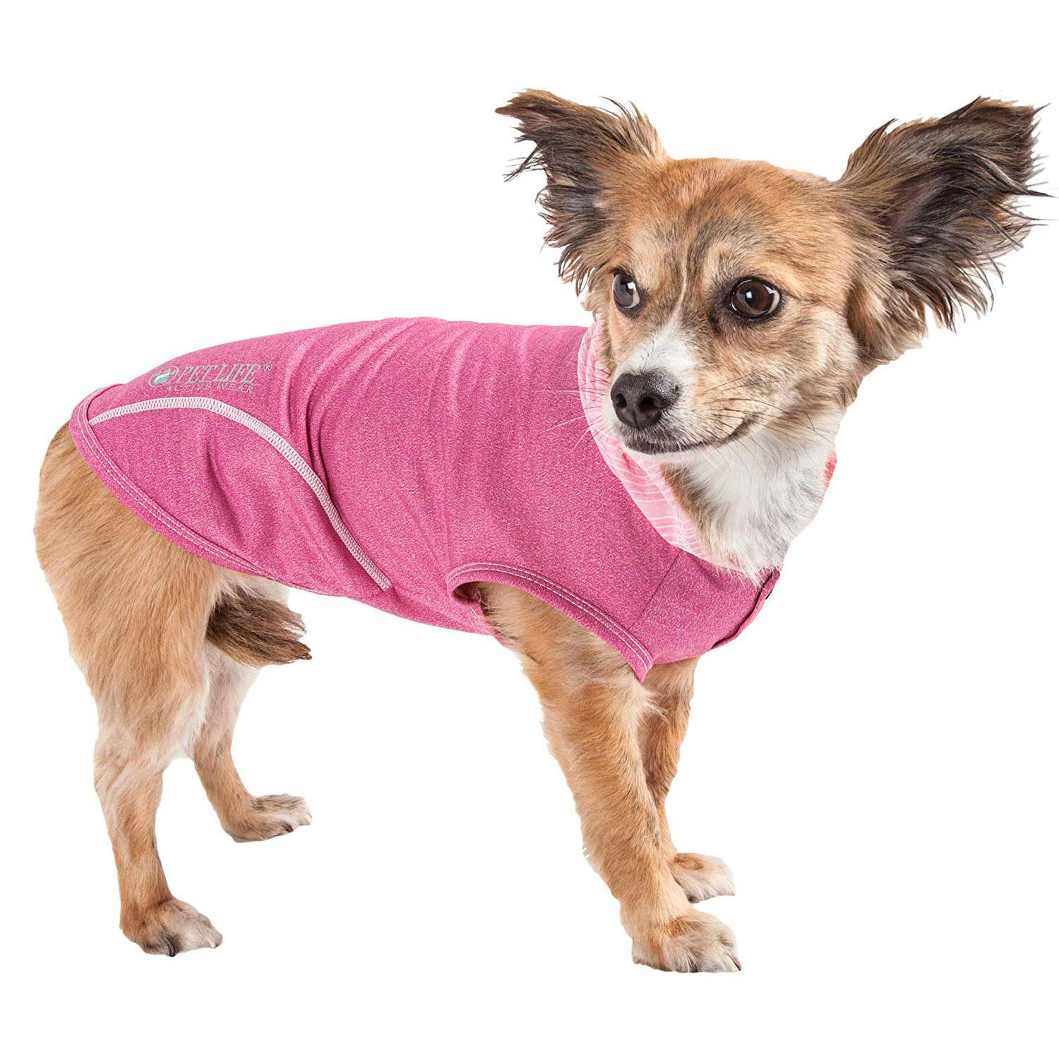Pet Life ACTIVE 'Pull-Rover' Performance Sleeveless Dog Hoodie - Pink