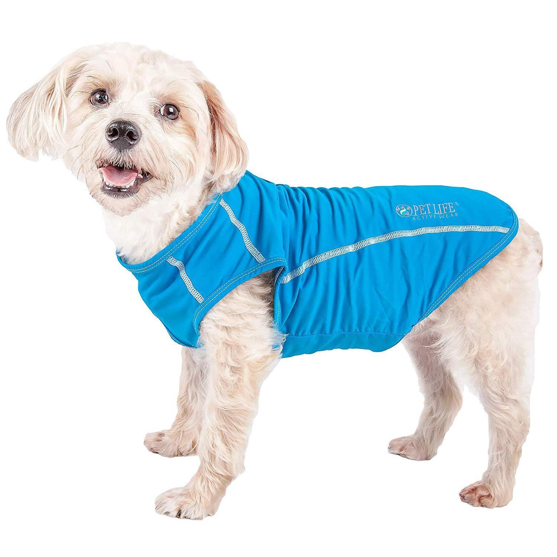 Pet Life ACTIVE 'Racerbark' Performance Dog Tank - Sky Blue