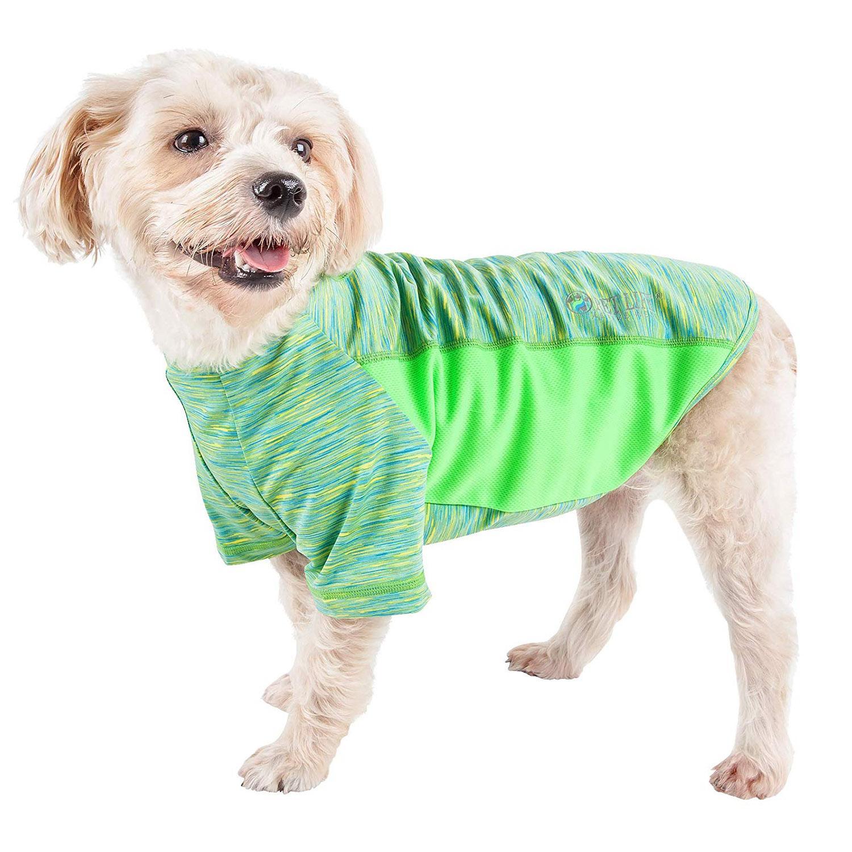 Pet Life ACTIVE 'Warf Speed' Performance Dog T-Shirt - Green Heather