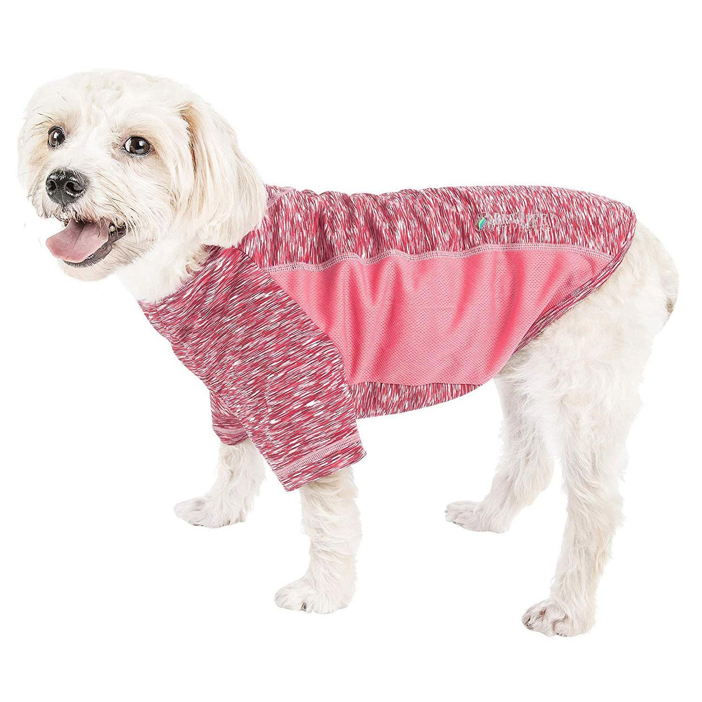 Pet Life ACTIVE 'Warf Speed' Performance Dog T-Shirt - Pink Heather