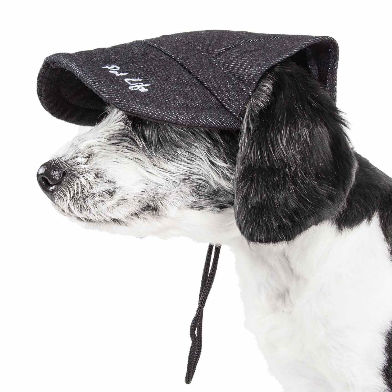 Pet Life 'Cap-tivating' UV Protectant Dog Hat Cap - Faded Black