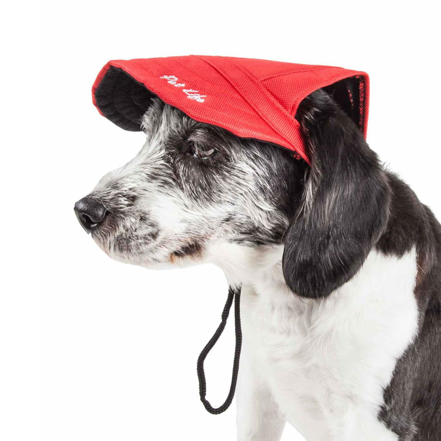 Pet Life 'Cap-tivating' UV Protectant Dog Hat Cap - Red