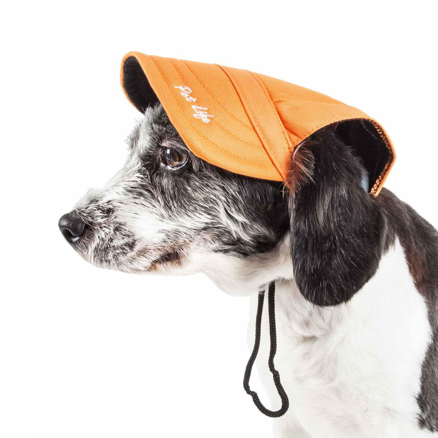 Pet Life 'Cap-tivating' UV Protectant Dog Hat Cap - Orange
