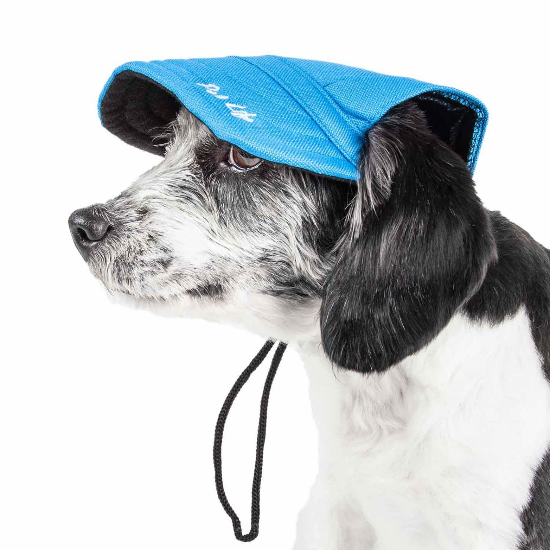 Pet Life Cap-tivating UV Protectant Dog Hat Cap - Blue