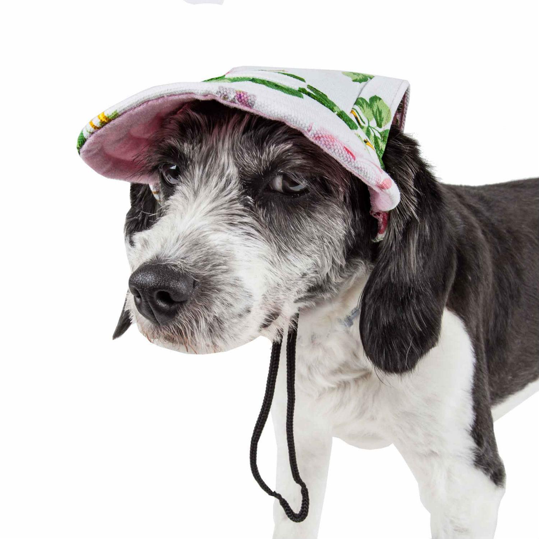 Pet Life 'Botanic Bark' UV Protectant Dog Hat Cap - Floral