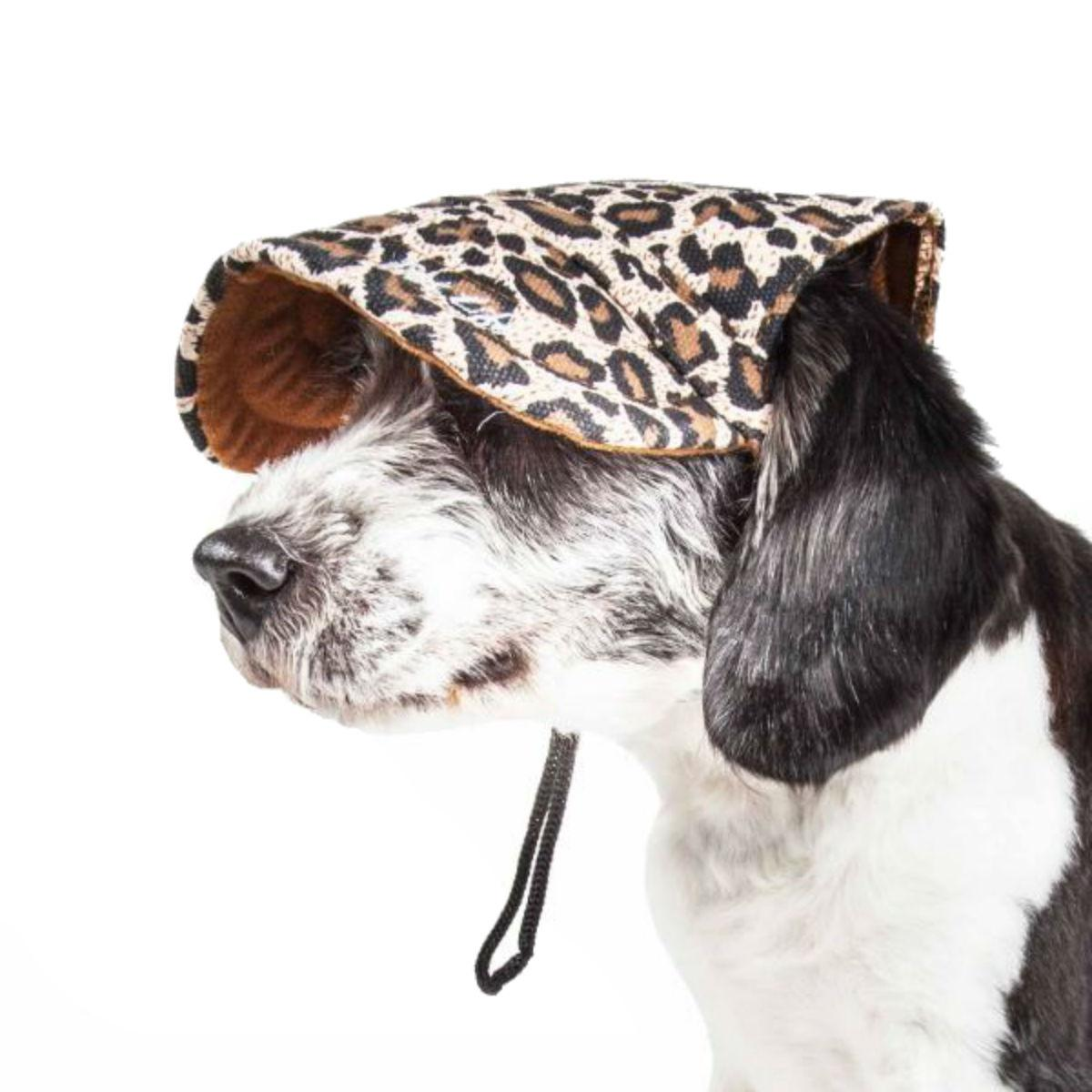 Pet Life 'Cheetah Bonita' UV Protectant Dog Hat Cap