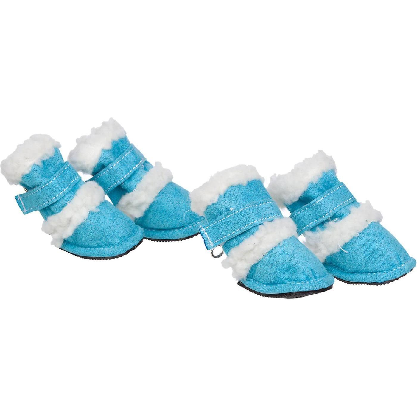 Pet Life 'Duggz' 3M Insulated Winter Fashion Dog Booties - Blue
