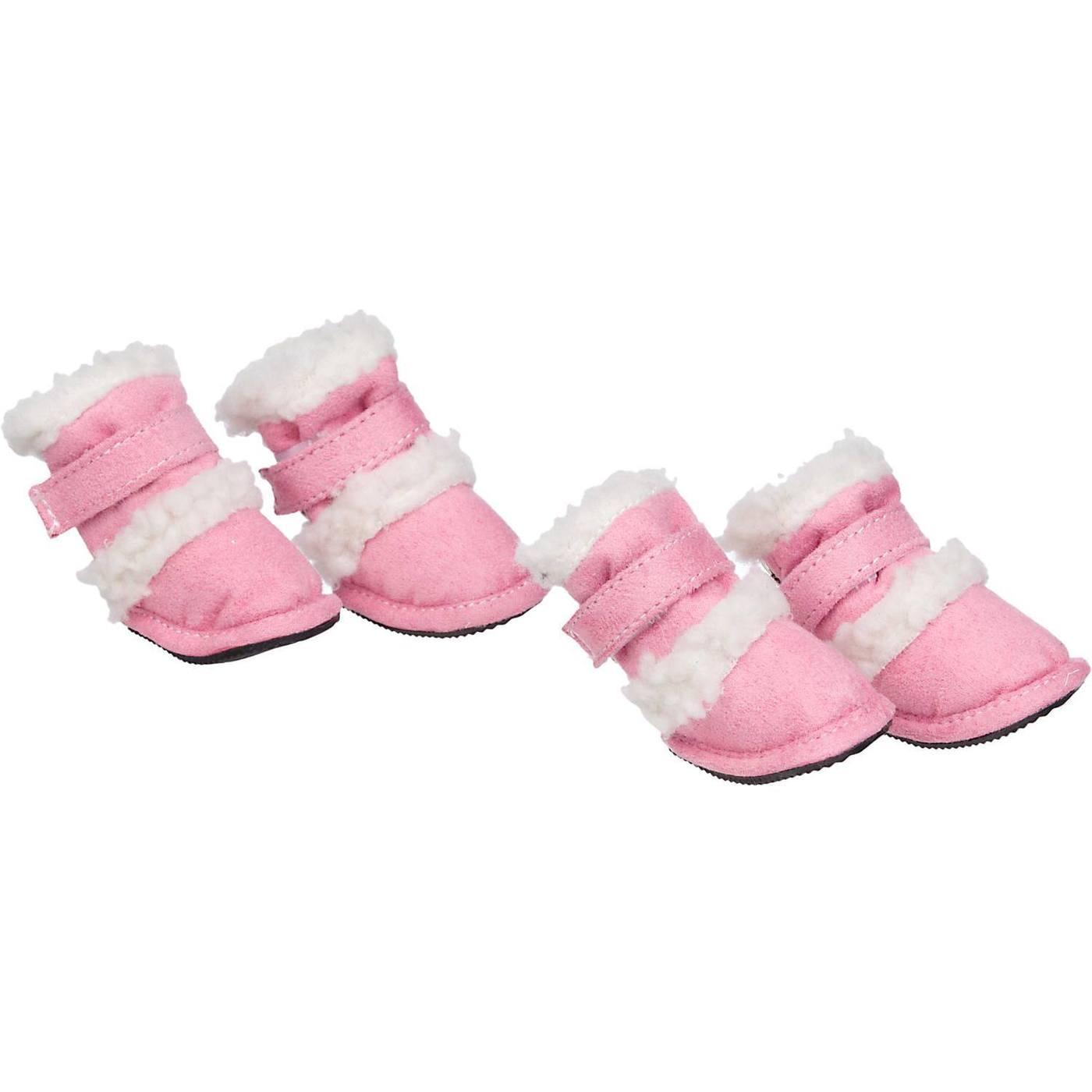 Pet Life 'Duggz' 3M Insulated Winter Fashion Dog Booties - Pink