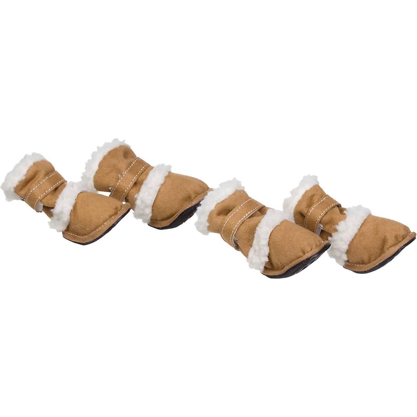 Pet Life 'Duggz' 3M Insulated Winter Fashion Dog Booties - Tan