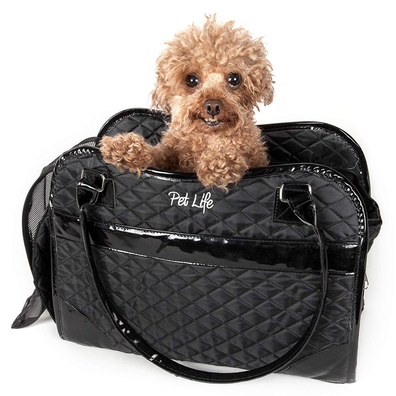 Pet Life Exquisite Airline-Approved Designer Travel Dog Carrier - Black