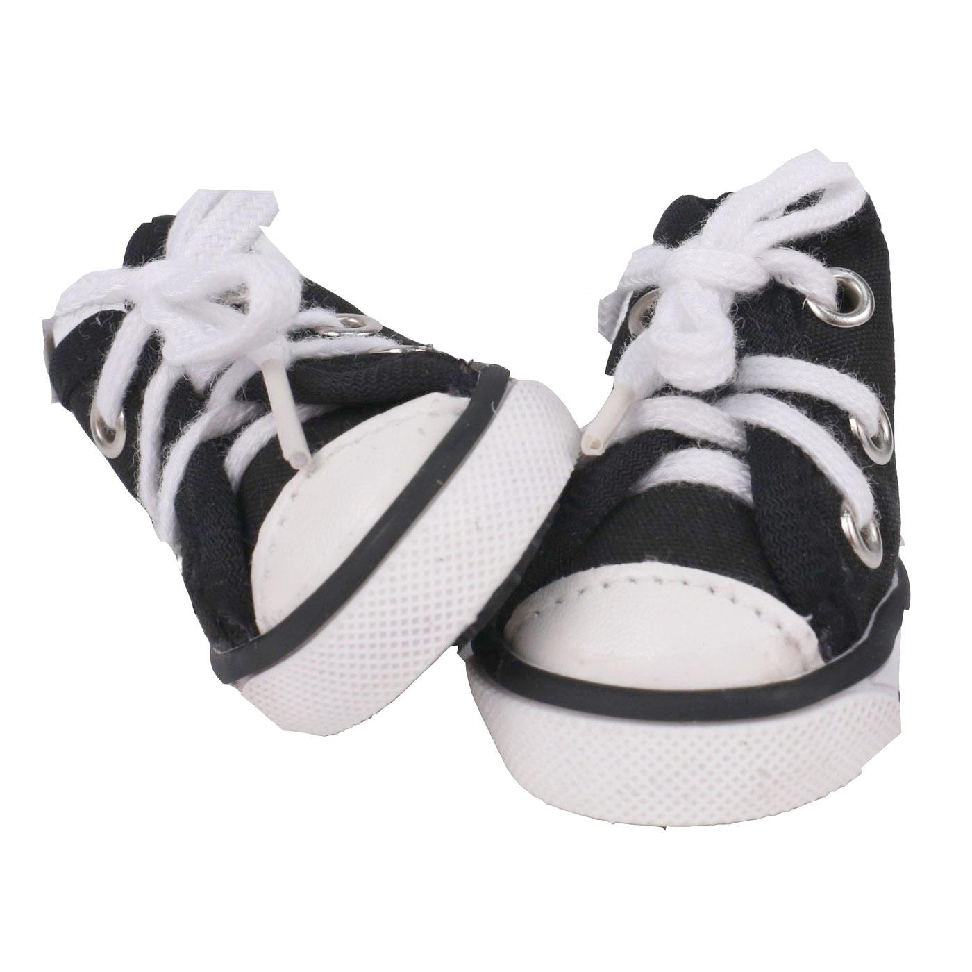 Pet Life 'Extreme-Skater' Canvas Dog Sneakers - Navy and White