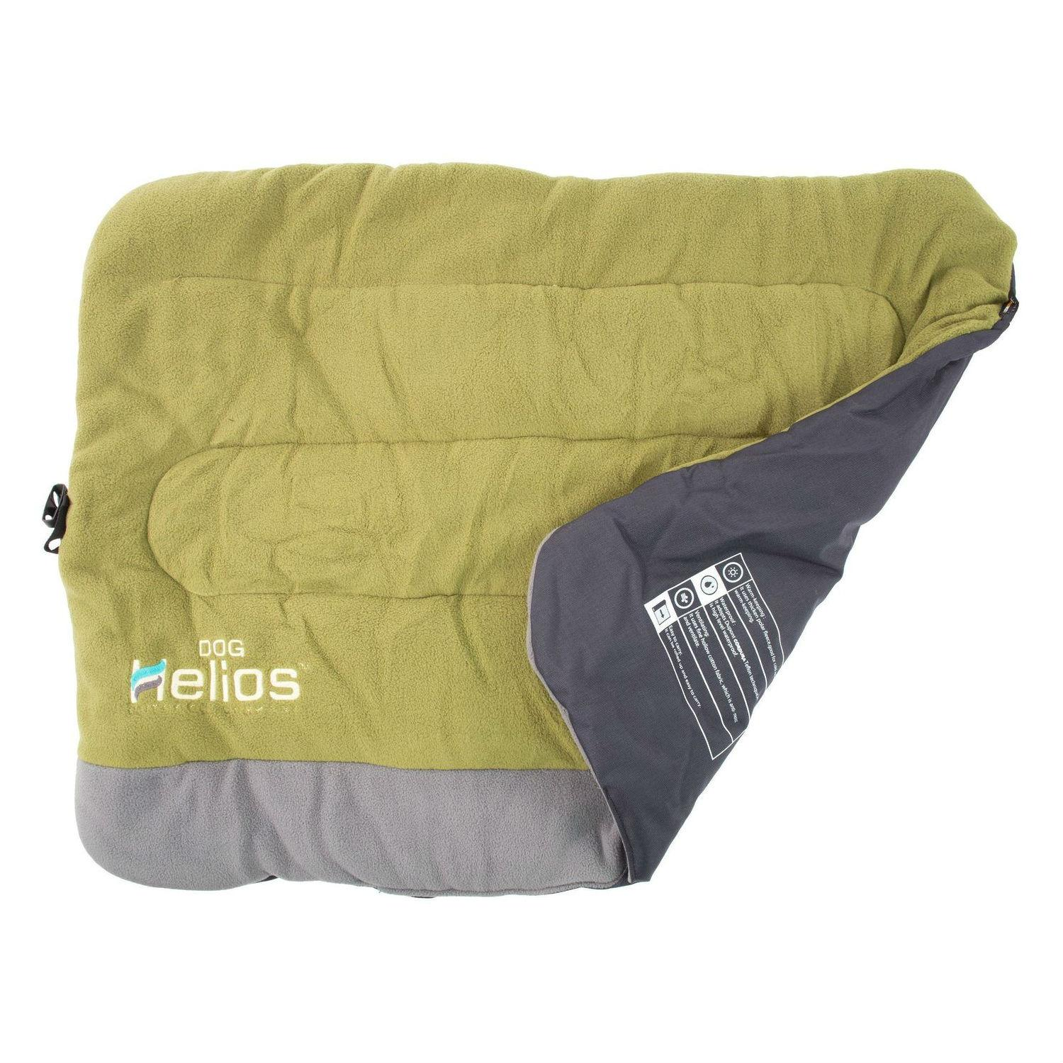 Pet Life Helios Combat-Terrain Cordura-Nyco Reversible Travel Camping Dog Bed - Olive Green