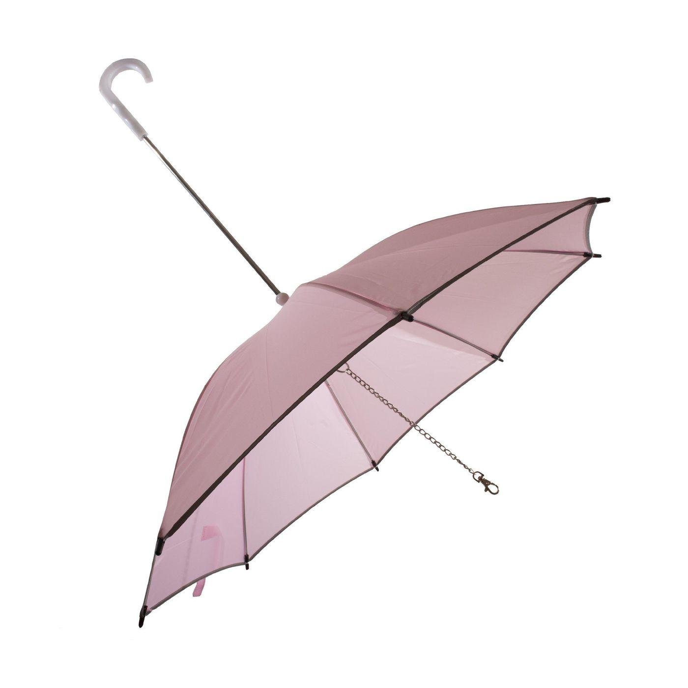 Pet Life 'Pour-Protection' Performance Dog Umbrella - Pink with White Handle