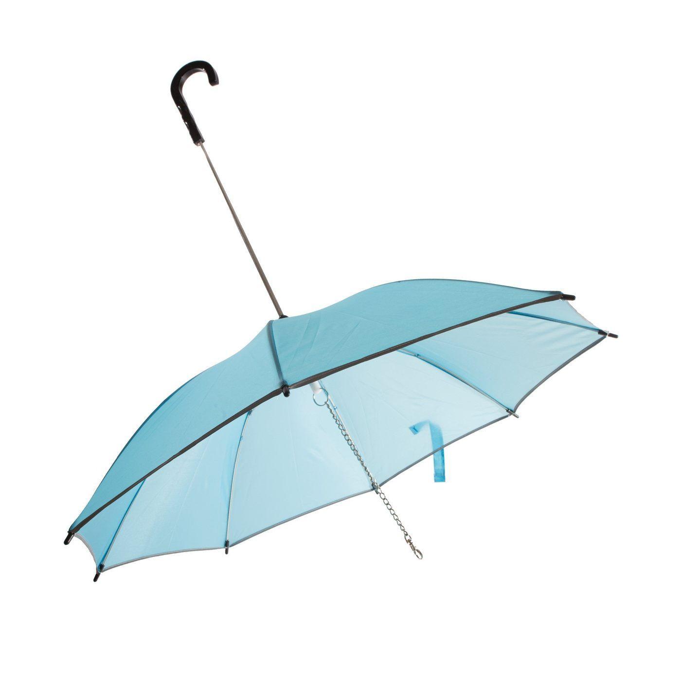 Pet Life 'Pour-Protection' Performance Dog Umbrella - Light Blue with Black Handle