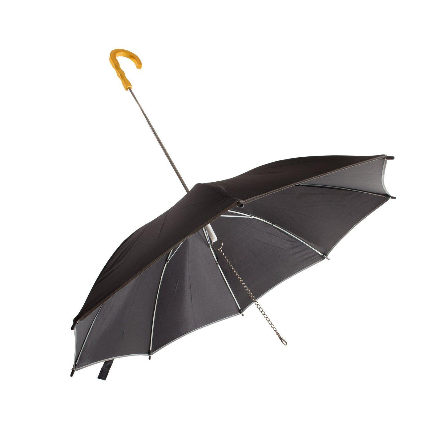 Pet Life 'Pour-Protection' Performance Dog Umbrella - Black with Yellow Handle