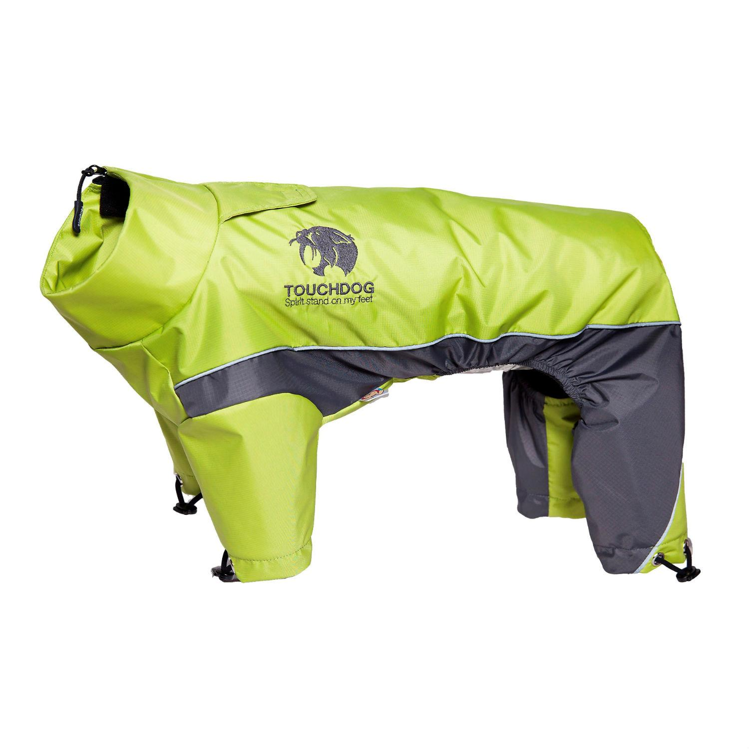 Pet Life Touchdog Quantum-Ice Full-Bodied Dog Jacket - Green