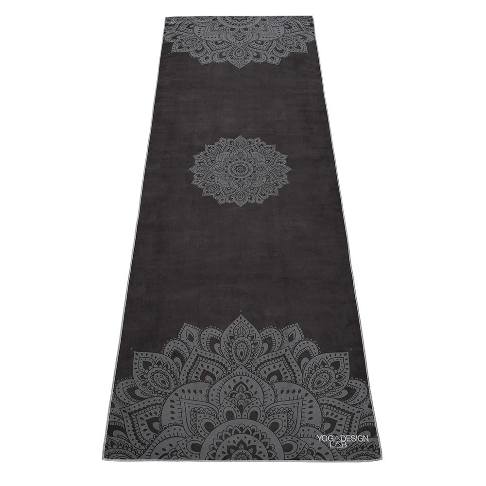 PET Mat Towel - Mandala Black