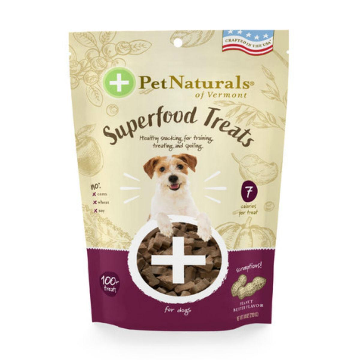 Pet Naturals Superfood Dog Treats - Peanut Butter Flavor
