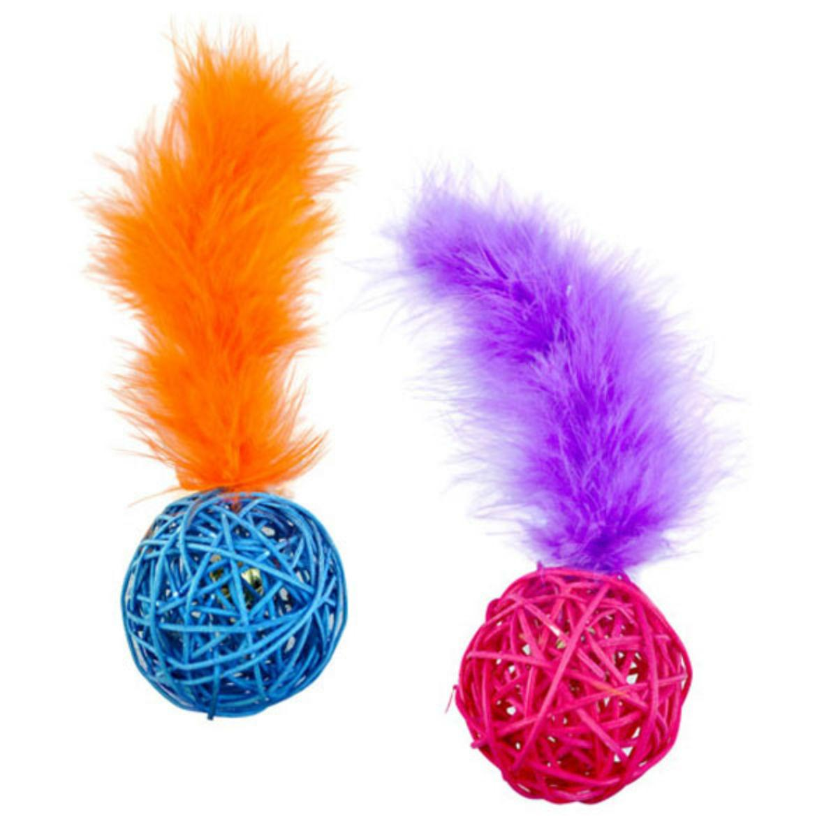 Pet Park Blvd Wicker Ball Cat Toy