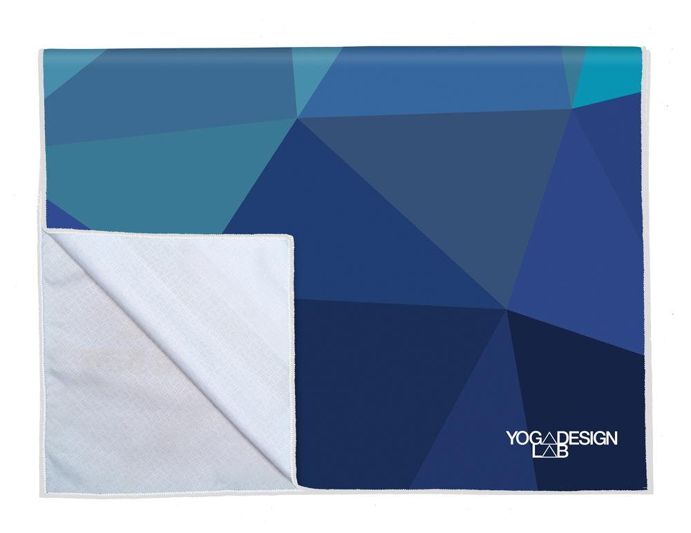 PET Power Grip Towel - Geo Blue
