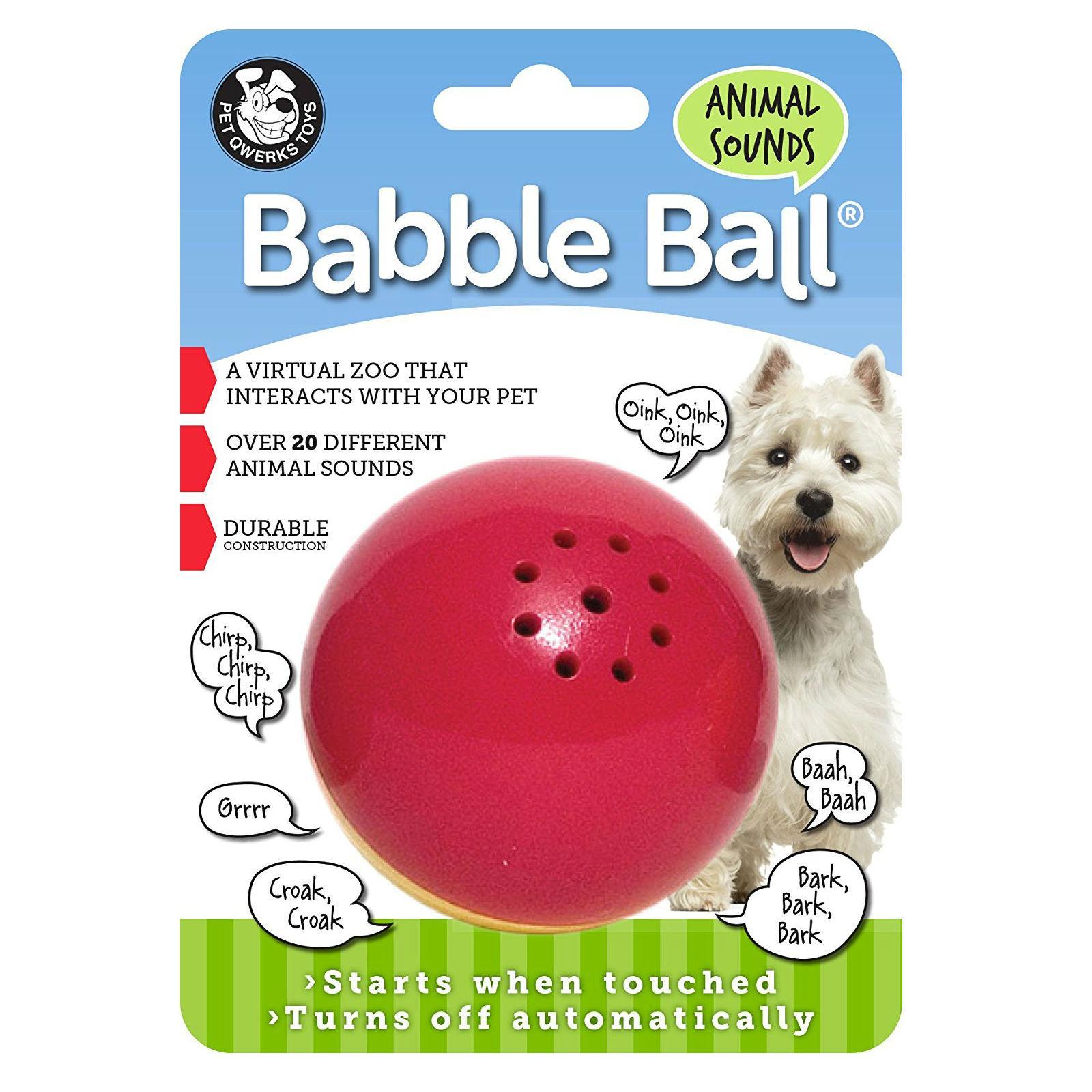 Pet Qwerks Animal Sounds Babble Ball Dog Toy