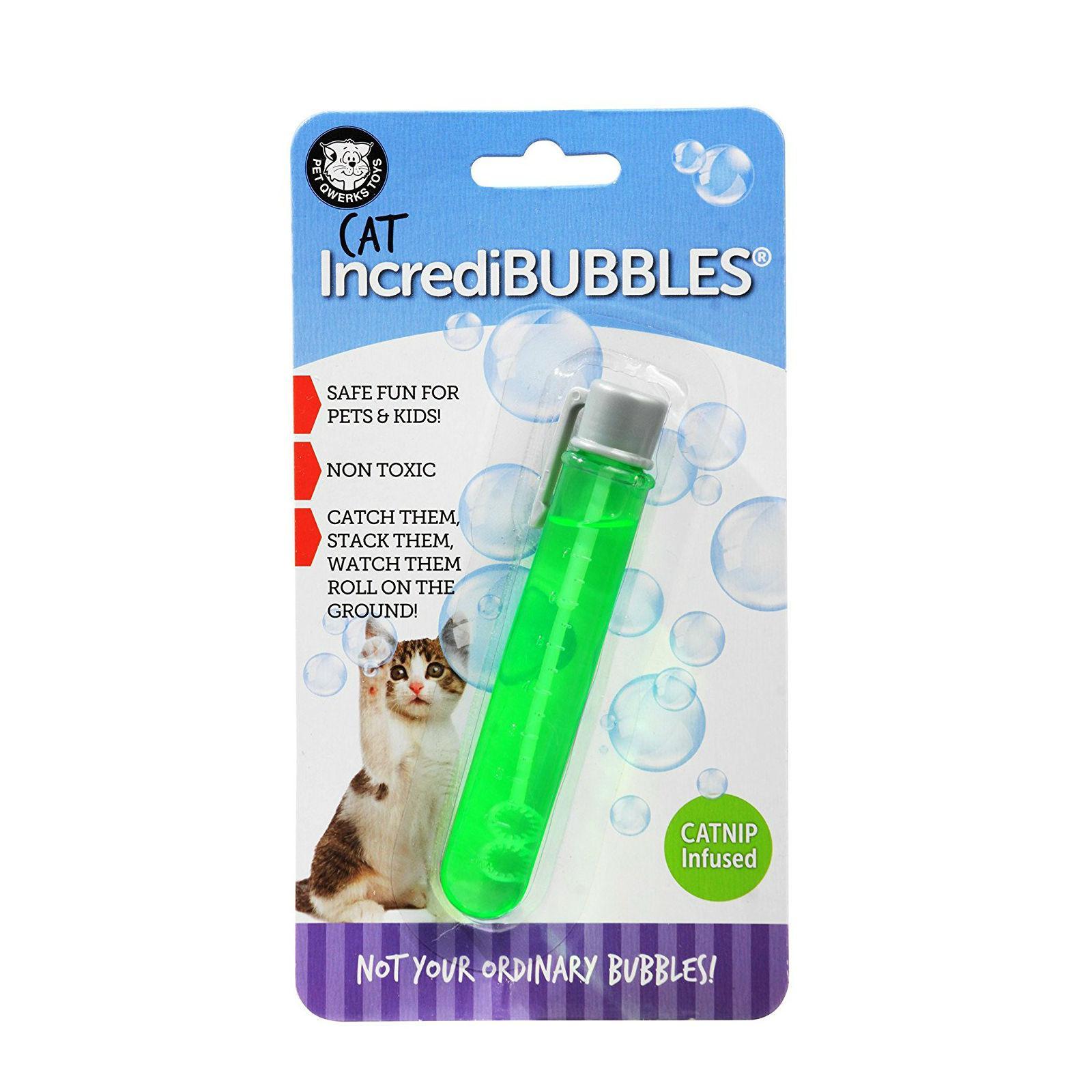 Pet Qwerks Cat Incredibubbles Catnip Flavored Bubbles