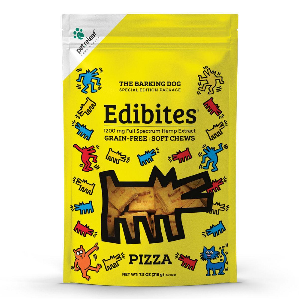 Pet Releaf Barking Dog Edibites Soft Chew Dog Treats - Pizza_main