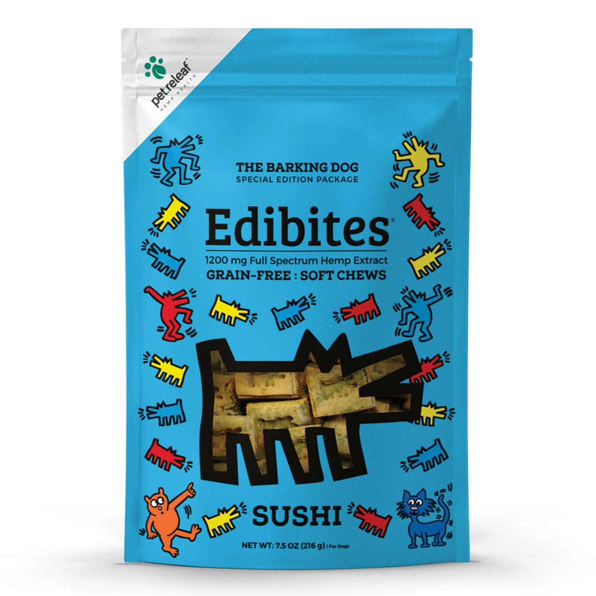 Pet Releaf Barking Dog Edibites Soft Chew Dog Treats - Sushi_main
