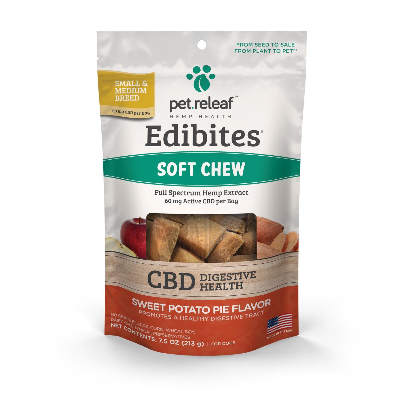 Pet Releaf Hemp Oil Edibites Dog Treats - Sweet Potato Pie Digestive Health_main