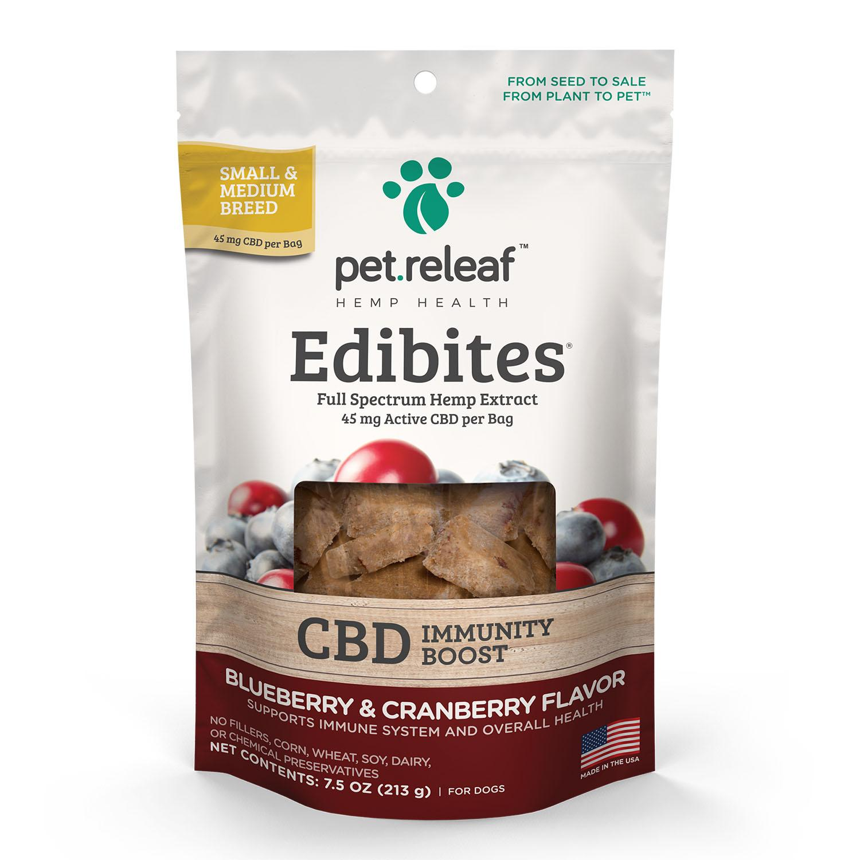 Pet Releaf Hemp Oil Edibites Dog Treats - Blueberry & Cranberry Immunity Boost_main