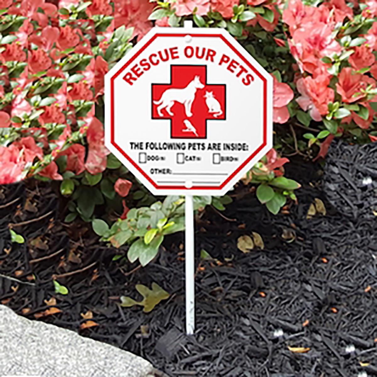 Pet Rescue Garden Sign